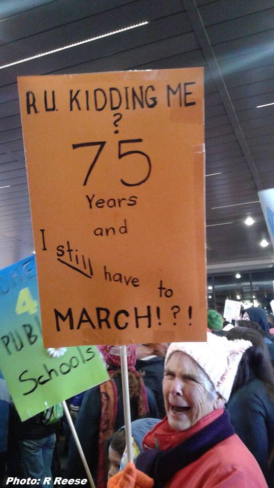 Denver march participant